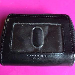 Handbags - Black Leather Dual Zip Wallet